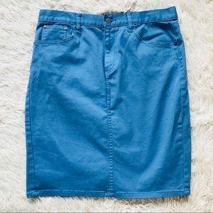 Ralph Lauren jeans sky blue skirt